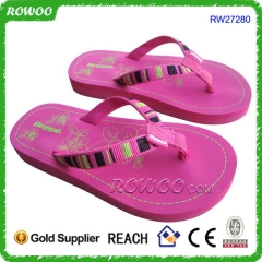 Fabric Teenage Girl Pink Sandals